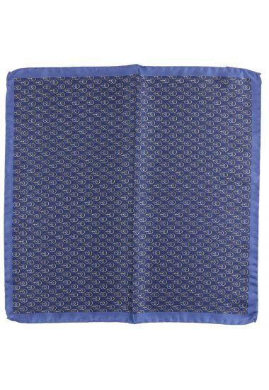 Fazzoletto da taschino ANELLO in seta-Blu