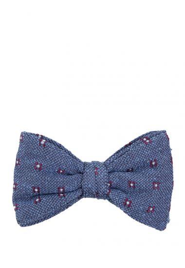 Papillon PINTA  in seta bourette-Jeans