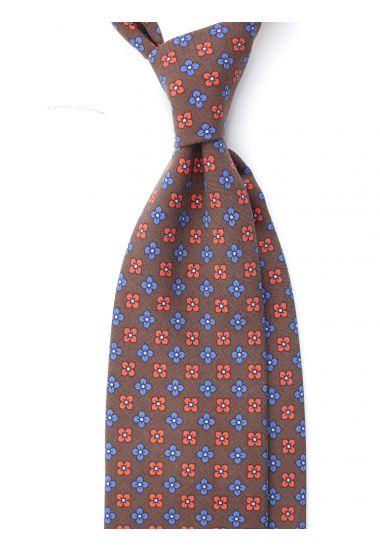 Cravatta 7 Pieghe TINGO Seta madder-Marrone