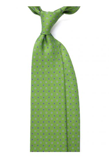 Printed Silk 3-fold tie  AD1923 GREEN