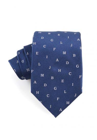 Cravatta 3 pieghe in seta ALFA-Blu
