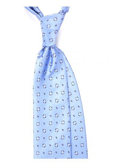 Cravatta 3 pieghe APICE in seta tessuta - Celeste