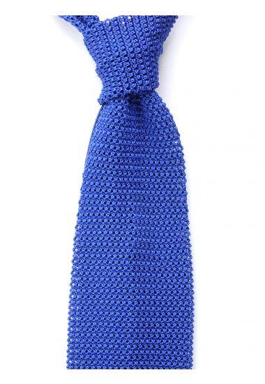 Cravatta a maglia MACCA-Blu Elettrico