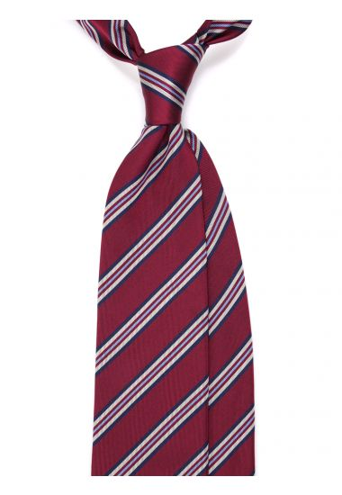 Woven Silk 3-fold necktie BIMU - Red