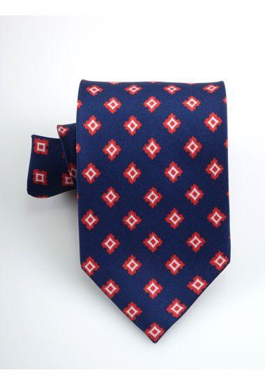 Cravatta 3 pieghe Clark in seta twill -Blu