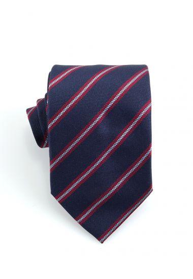 Cravatta 3 pieghe GAMMA in seta-Blu