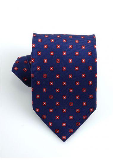 Cravatta 3 pieghe CICLOPE in seta twill _Blu