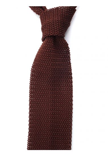 Cravatta a maglia MACCA-Marrone