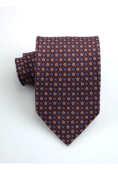 Cravatta 3 pieghe Happy in seta twill _Marrone