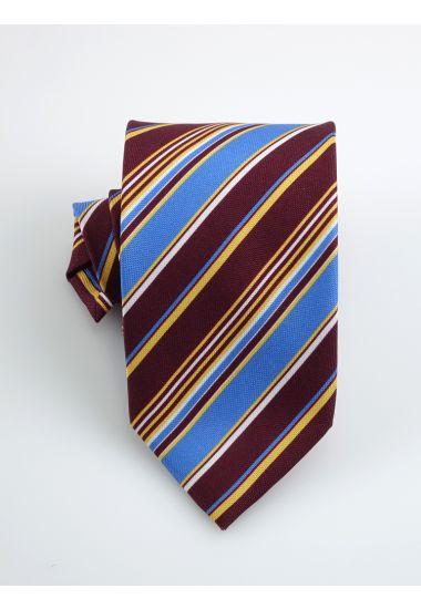 Cravatta 3 pieghe PARAMARIBO in seta panama _Bordeaux