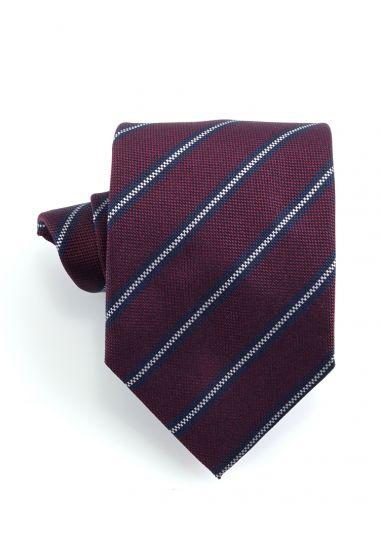 Cravatta 3 pieghe GAMMA in seta-Bordeaux