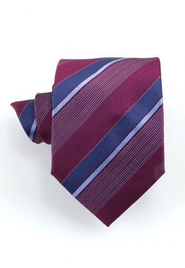 Cravatta 3 pieghe STRESA in seta-Bordeaux