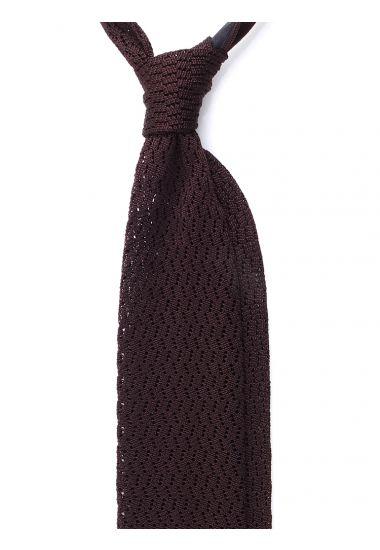 Cravatta a maglia CAPRI-Marrone Scuro