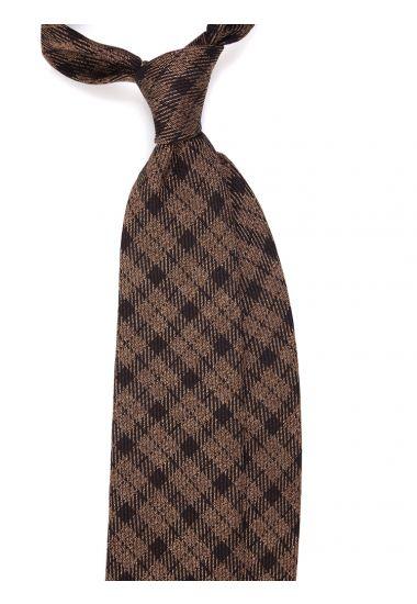 Cravatta 3 pieghe in seta tessuta CHARLIE