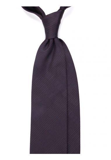 Cravatta 3 pieghe LH_2658 in seta tessuta - Marrone