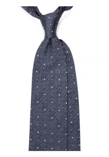 Woven Silk 3-fold necktie LH_690 - Grey