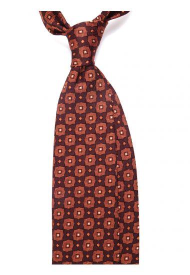 Cravatta 3 pieghe LX01_1624 in seta tessuta - Arancione