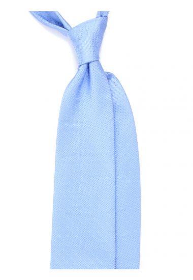 Cravatta 3 pieghe GESIO in seta TESSUTA - Celeste