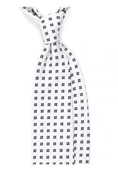 Cravatta 3 pieghe  in seta CAMUNA - Bianca