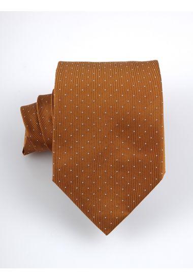 Cravatta 3 pieghe BIRBA in seta-Arancione