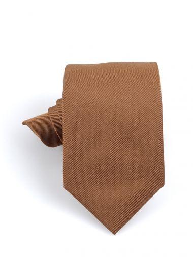 Cravatta 3 pieghe UCRIA in seta-Beige