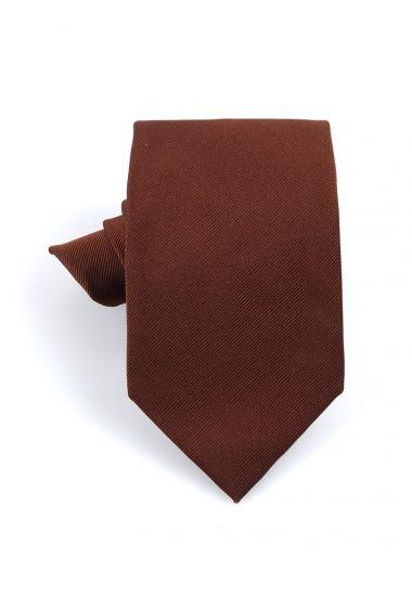 Cravatta 3 pieghe UCRIA in seta-Marrone