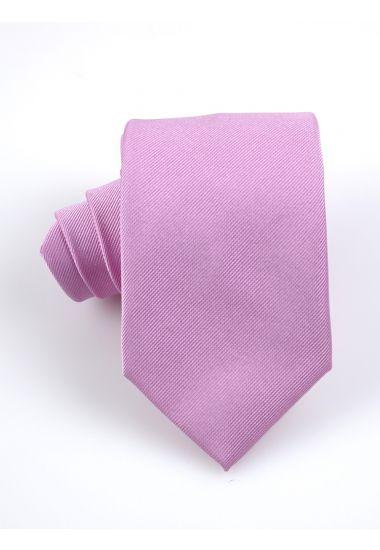 Cravatta 3 pieghe UCRIA in seta-Rosa