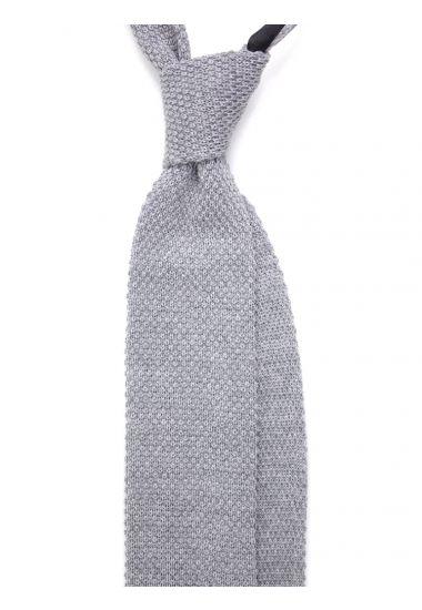 Merinos Wool knitted tie CIFERO-Grey