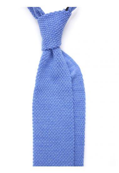 Cravatta a maglia di lana CIFERO-Celeste