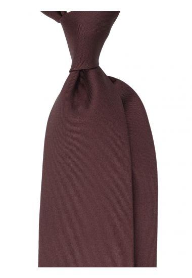 Cravatta 3 Pieghe DACCA in seta inglese stampata-Marrone