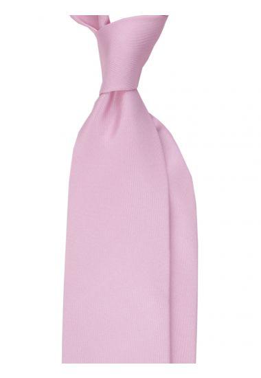 Cravatta 3 Pieghe DACCA in seta inglese stampata-Rosa Chiaro