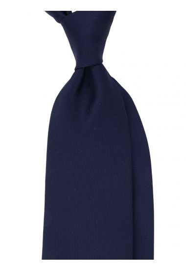 Cravatta 3 Pieghe DACCA in seta inglese stampata-Blu Scuro