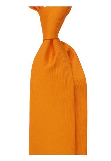 Cravatta 7 Pieghe DACCA in seta inglese stampata-Arancione