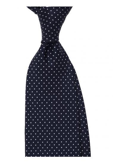 Cravatta 3 pieghe LUPOIS in seta-Blu Scuro