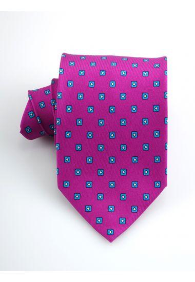 Cravatta 3 pieghe CICLOPE in seta twill _Fucsia