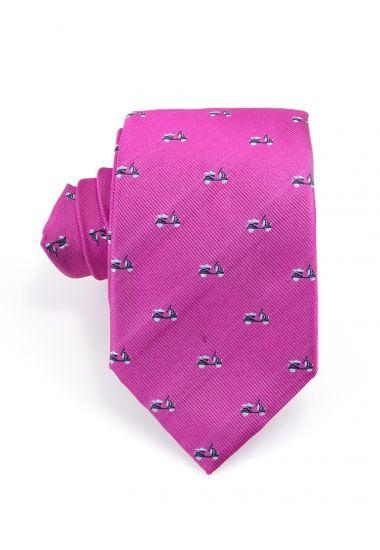Cravatta 3 pieghe VESPA  in seta-Fucsia