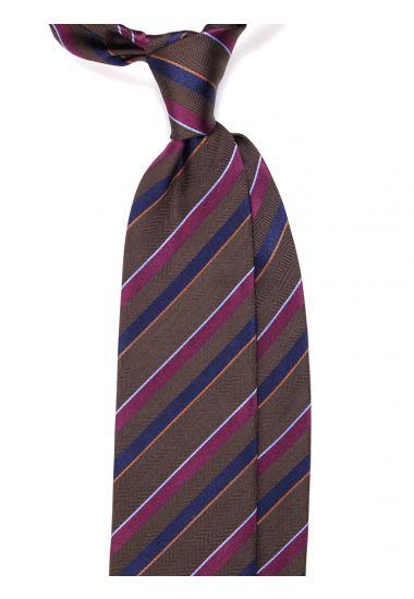 Woven silk 3 fold tie  GASEN