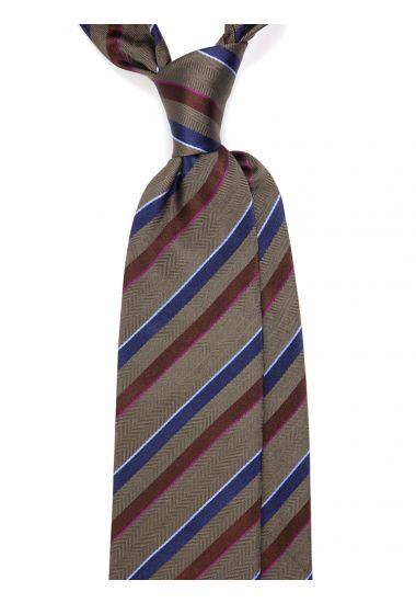Cravatta 3 pieghe in seta tessuta GASEN- Verde