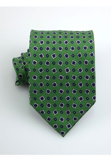 Cravatta 3 pieghe LIZZIE in seta panama _Verde