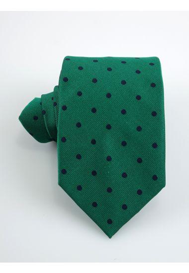 Cravatta 3 pieghe DOLINO in seta-Verde