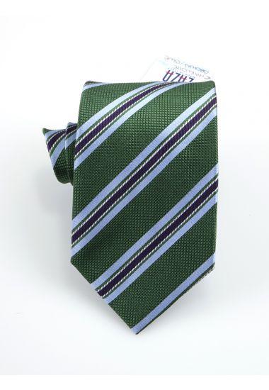 Cravatta 3 pieghe CHARLOTTE in seta-Verde