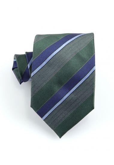Cravatta 3 pieghe STRESA in seta-Verde