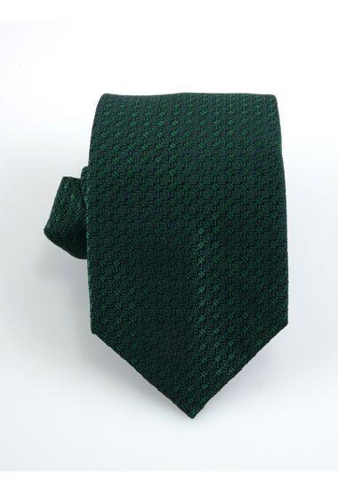 Cravatta 3 pieghe URANO  in seta-Verde