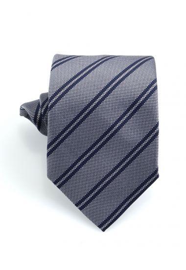 Cravatta 3 pieghe GAMMA in seta_Grigio