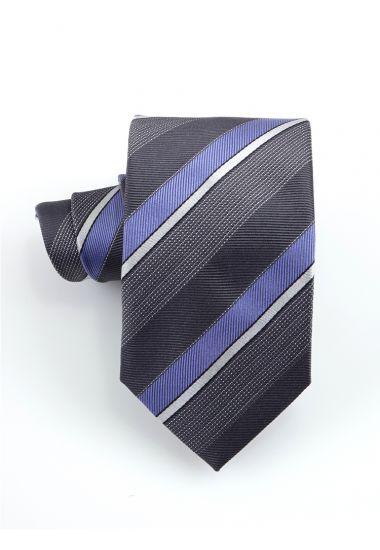 Cravatta 3 pieghe STRESA in seta-Grigio