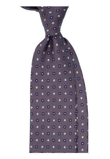 Cravatta 3 pieghe AD1927 in seta-Grigio