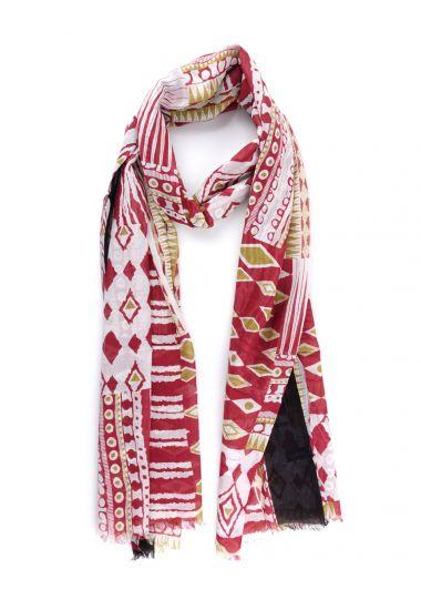 Sciarpa cotone INDIAN-Rosso