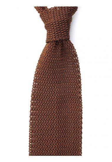 Cravatta a maglia MACCA-Marrone Chiaro