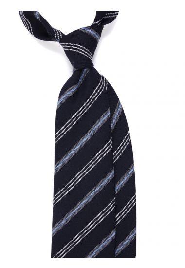 Cravatta 3 pieghe MOSCATO in lana -Celeste