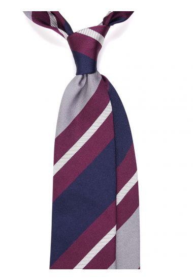 Cravatta 3 pieghe MYHO in seta tessuta-Bordeaux